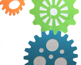 Large Gears - Hanging Decoration from the Robots & Gears Collection