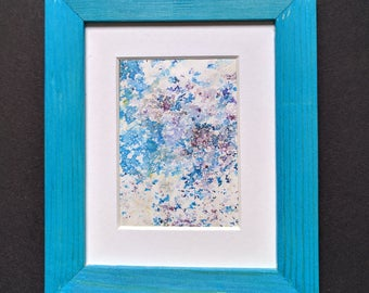 Original ACEO abstract reflections water leaves trees nature Yorkshire artist