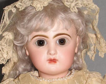 "19"" Tete Jumeau LADY, Original Jumeau Lady Body, Antique French Doll"