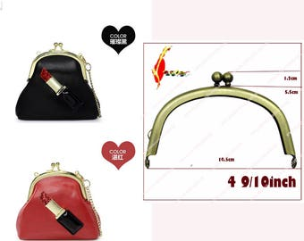 50pcs  10cm japan quality  brass color glue kiss lock  coin purse frame /clasp /clip including pattern whole sale   KS-48