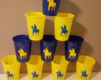 Set Of 12 Polo Player Vinyl Decal, Polo Horse Decal Stickers, Party  Supplies.