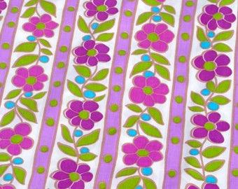 xxxSOLDxxx   Vintage retro floral sheet and pillowcase