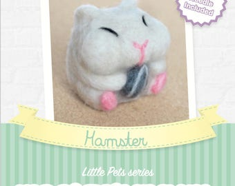 Hamster - DIY wool felting kit