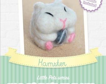 Hamster - DIY wool felting kit