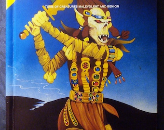 AD&D Fiend Folio 1981 vintage TSR manual for Advanced Dungeons and Dragons