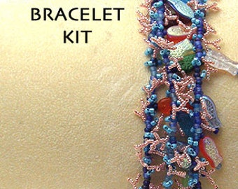 NEW Beading Kit & Tutorial for the Deep Blue Sea Bracelet