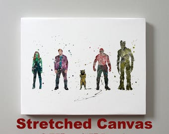 Guardians of the Galaxy Stretched Canvas Print