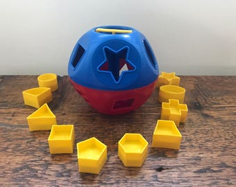Vintage Tupperware / Tupper Toy Shape-O-Ball Shape Sorter FULL SET 1-10