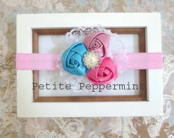 Baby Headband, baby girl headband, toddler headband, Baby Flower Headband, Baby Girl Flower Headband, Baby Bow, Infant Headband