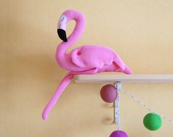 Stuffed Flamingo -  Baby Sleep Aids- Soft Toy - Pink Stuffed Bird - Tropical Plush Toy - Gift For Girl - Crib Toys - Sleeping Toy - Bedtime