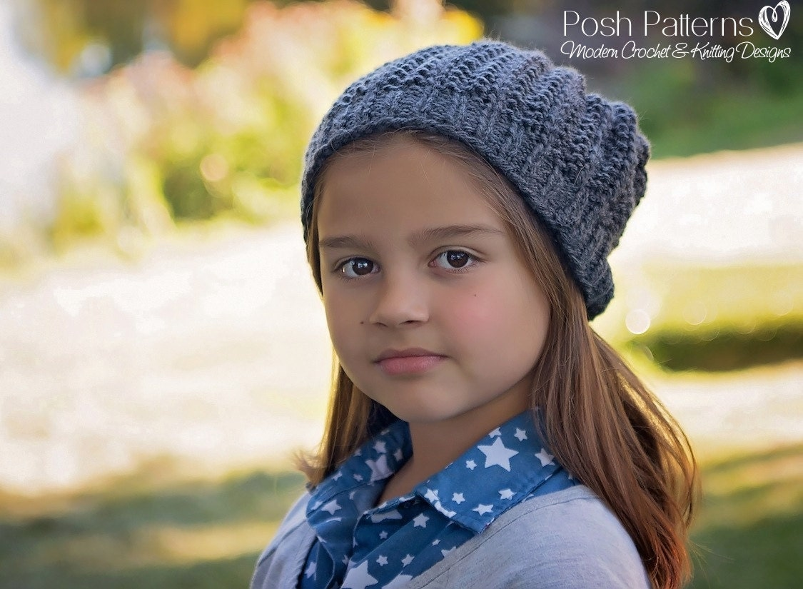 Knitting PATTERN - Easy Ribbed Knit Hat Pattern - Knitting Patterns ...