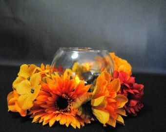 Fall Decor Candle Holder Centerpiece