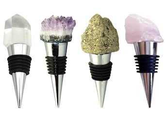 Wine Stopper (Amethyst, Pyrite, Quartz, Rose Quartz)