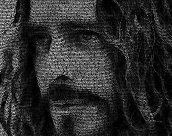 Word Art Poster - Chris Cornell
