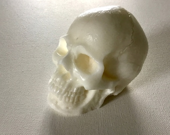 White Skull Soap, Large 10+ oz. Sculptural Novelty Soap, Handmade, Very Realistic, Goth, Skeleton, Macabre, Halloween, Custom Orders Welcome
