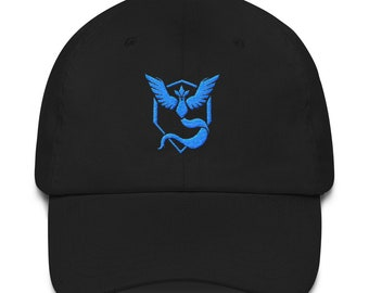Pokemon Go Team Mystic Hat Embroidered Gift for Pokemon Go Player