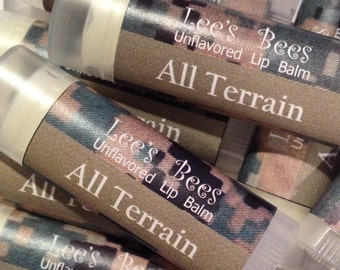 Unflavored Lip Balm - One Tube of Marine-Tested MARPAT Camo Chapstick from Lee the Beekeeper
