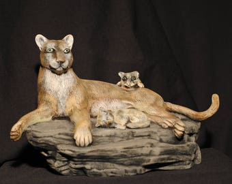 Mountain Lion and Cubs