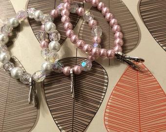 Pack of 3- Ballet slipper beaded bracelets