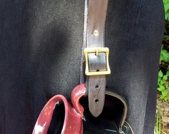 Mug Strap - Leather Utility Belt Strap with Buckle - Renaissance Medieval Costume Accessory