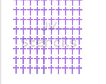 Small Crosses Stencil