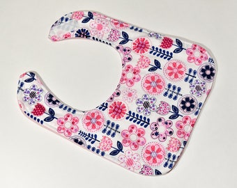 Baby Bib Girls Handmade Infant Drool Feeding Bib Baby Shower Gift Flower Bib Baby Items Girls