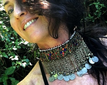 Goddess Vintage Kuchi Tribal Choker