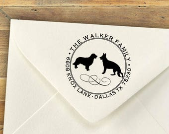 Custom Address Stamp, Self Ink Return Address Stamp, Personalized Address Stamp, Self Ink Custom Address Stamp, Dog Stamp, Any Breed Welcome