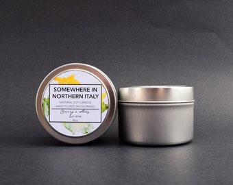 Somewhere in Northern Italy // 4oz Soy Candle - Call Me By Your Name - Bookish Candles - Handmade - Gifts - Book Lover Gifts - Citronella