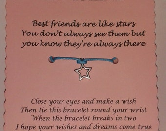 Best Friend gift, Friendship bracelet, Friendship gift, Wish Bracelet, Gift Best Friend, Charm Bracelet, Best friend bracelet, BFF gift