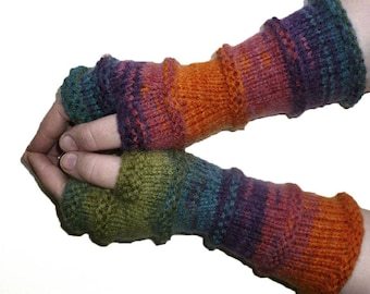 Knit Fingerless gloves | Arm warmers Womens Fingerless | Long Gloves | Fingerless Mittens | Wrist warmers | Hand warmers