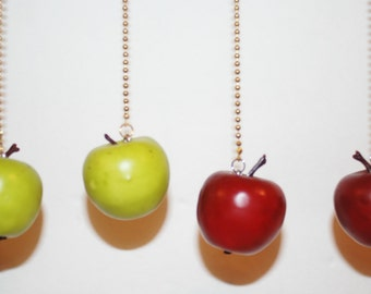 Apple Ceiling fan/light chain pull.. Red or Green
