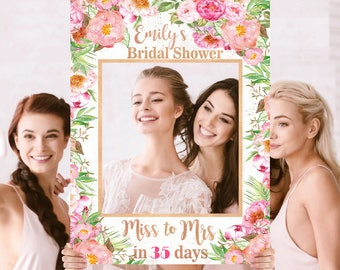 Wedding Photo Prop - Bridal Shower Photo Prop - Rose Gold Pink Photo Prop - DIGITAL FILE - Baby Shower Photo Prop - Printed Option Available