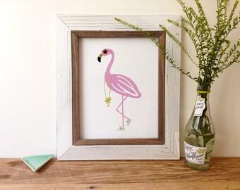 Pink Flamingo - Art Print 5x7, 8x10, 11x14