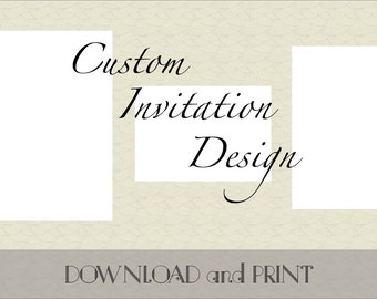 Printable Custom Wedding Invitation, Response Card and Reception/Information Card