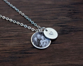 Photo Charm Necklace, Gold Filled & Sterling Silver