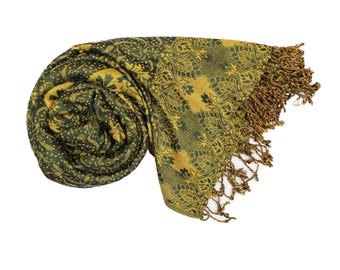 Green Pashmina Ultra Smooth Cashmere Feel Soft Shawl Style Wrap IN6