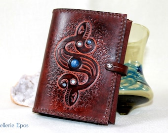 Wallet and coin handmade brown leather