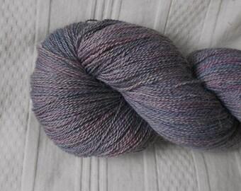 Lilac silk/alpaca laceweight yarn