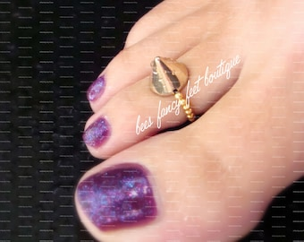 Spike Toe Ring, Spike Ring, Gold Spike Acrylic Bead, Gold Toe Ring, Gold Ring, Gold Beads, Toe Ring, Ring, Stretch Bead Toe Ring