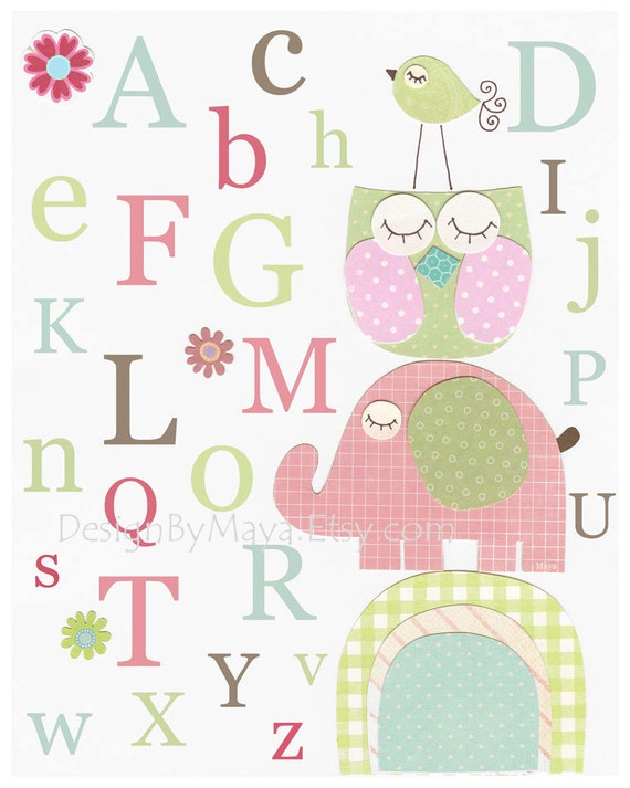 Girl Nursery Decor Art Baby Wall