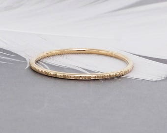 Gold Stacking Rings - Dainty Ring - Midi Ring - Knuckle Ring - Minimalist Ring - Thin Gold Ring