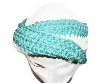 Turban Headband, Womens Fashion Hairband, Earwarmer Headband, Turquoise Ear warmers, Turban Style EarWarmers, Twist Ear warmers