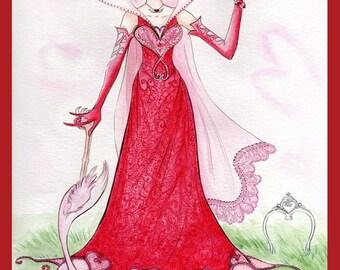 Queen of Hearts - print