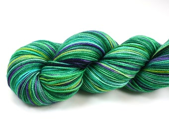 Purls and Ivy--hand dyed sock yarn, 2ply merino and nylon, (400yds/100gm)