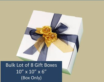 8 LARGE Gift Boxes 8 Wine Glass Boxes Bridesmaids Gift Box 8 White Gift Boxes Wine Glasses Box Photo Gift Boxes Stemware Gift Boxes Bulk