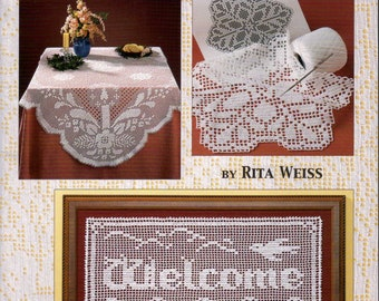 Learn to Do Filet Crochet In Just One Day Pattern Book