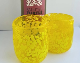 Yellow Wine Cups