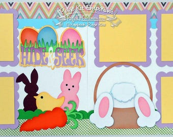 Scrapbook Page Kit Easter Eggs Spring Bunny Boy Girl Baby 2 page Scrapbook Layout 044