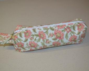 Floral Zipper Pouch Pencil Case